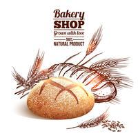 Bäckerei-Skizze-Konzept