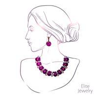 Kvinna och smycken vektor