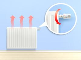 Realistisk Radiator Illustration