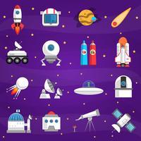 Weltraum-Icons gesetzt