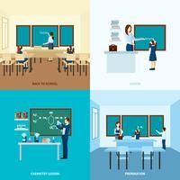 Schulbildungskonzept Set vektor