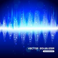 Equalizer blå på mörk bakgrundsaffisch vektor