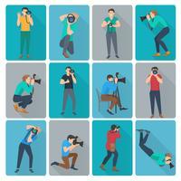 Fotograf Icons Set vektor