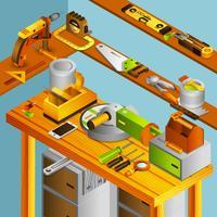 Isometrisches Konzept der Werkstatt