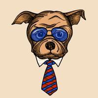 Mode-Bulldogge-Porträt