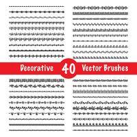 Vektor-Pinselsatz vektor