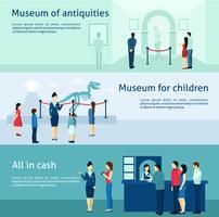 Flache Fahnen des archäologischen Antikenmuseums eingestellt