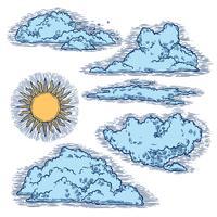 Himmel und Wolken Farbe vektor