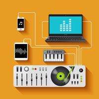 DJ-Arbeitsbereich-Illustration