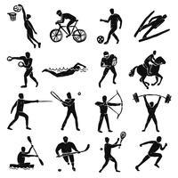 sport skiss människor ställs vektor