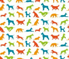 Hund sömlös mönster vektor