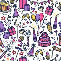 Födelsedagsfest tid sömlöst mönster