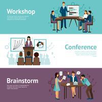 Horizontale Banner des Business-Trainings
