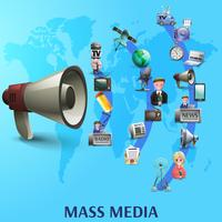 Massenmedien-Plakat vektor