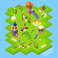 Spielplatz-Park-Plakat