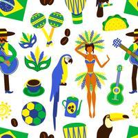 Brasilien sömlöst mönster vektor