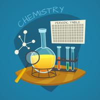 Kemiska laboratorium tecknade ikoner