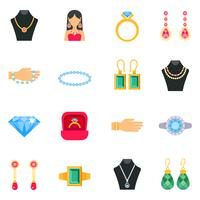 Schmuck Icons Set vektor