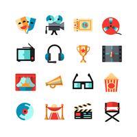 Kino isoliert Icon Set vektor