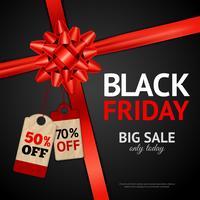 Poster av svart fredagsförsäljning vektor