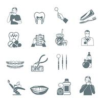 Dental Black Icons Set