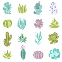 Kaktusikoner Set