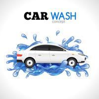 Autowäsche-Konzept