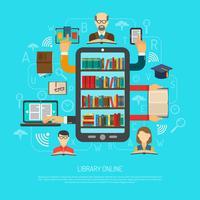 Bibliotek Online Cocept Layout Chart Skriv ut