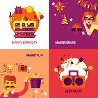 Party-Design-Konzept festgelegt vektor