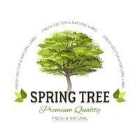 Tree typografi logotyp vektor