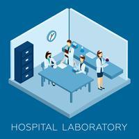 Krankenhaus-Laborkonzept