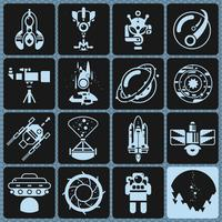 Raum Symbole Monochrom