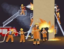 Brandmän Människor Design Concept