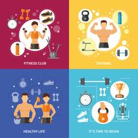 Fitness Club Gesundes Leben Konzept vektor