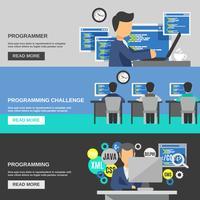 Programmier-Banner-Set vektor