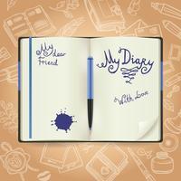 dagbok skiss koncept