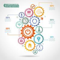 Farbmechanismus-Infografik vektor