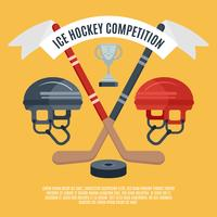 Ishockey konkurrens platt affisch vektor
