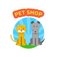 pet shop logotyp vektor