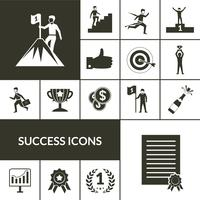 Succes ikoner Black Set