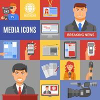 Journalismus-Ikonen eingestellt vektor