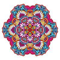Dekorative Mandala-Farbe vektor