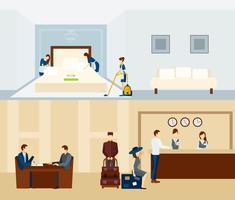 Hotelpersonal Banner vektor