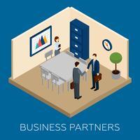 Partnerskap Koncept Isometrisk