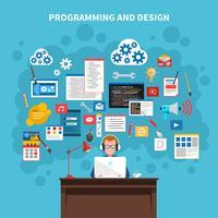 Programmering av konceptillustrationen vektor