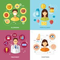Verschiedene Allergietypen Symptome vektor