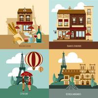 Paris turistiska uppsättning