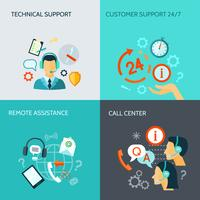 Fernunterstützung und technische Support-Banner vektor