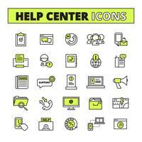Inställningar för Call Center-ikoner