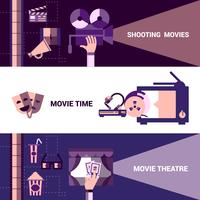 Horizontale Kino- und Filmtheater-Banner vektor